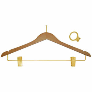 ANTI THEFT HANGER, NATURAL FEMALE BRASS