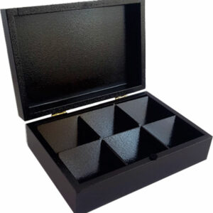 TEA BOX WITH 6 COMPARTMENTS