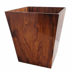 SOLID WOODEN WASTEBIN