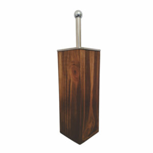 WOODEN TOILET BRUSH HOLDER