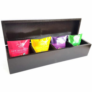 TEA BOX LONG WITH 4 COMPARTMENTS