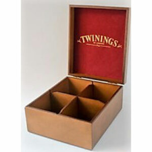 TWININGS TEA BOX, 4 COMPARTMENTS