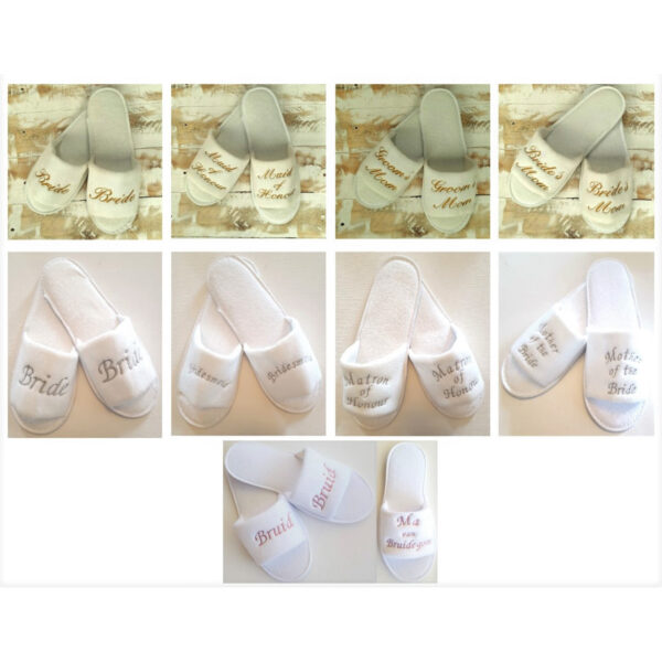 Embroidered Bridal Slippers (Adults)