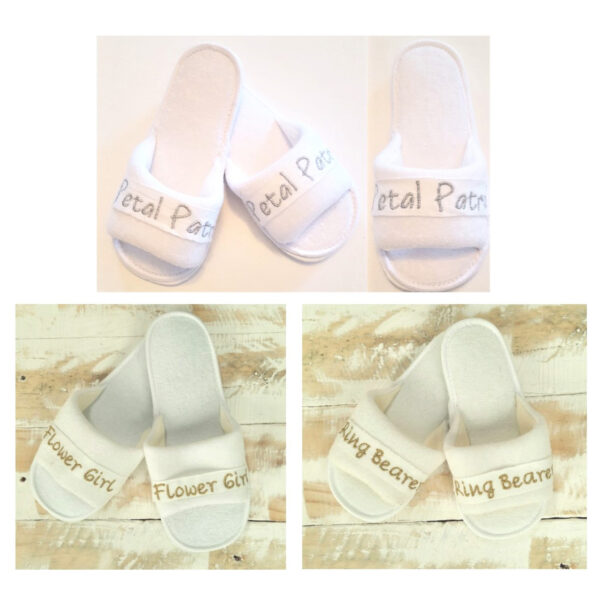 Embroidered Bridal Slippers (Kids)