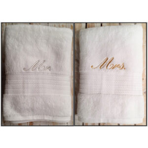 Mr Mrs Towel Set