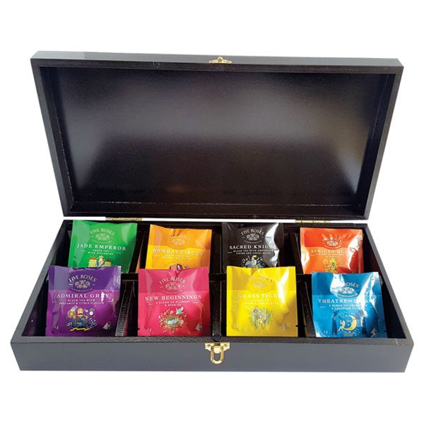 5 ROSES INFUSION TEA BOX – 8 COMPARTMENTS