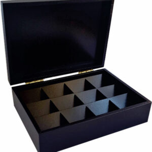 TEA BOX WITH 12 COMPARTMENTS
