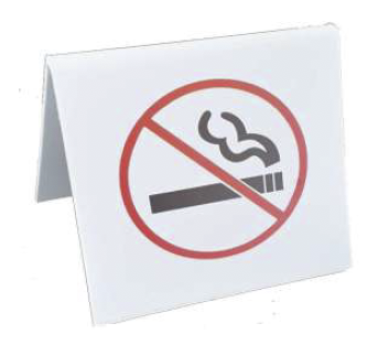 NO SMOKING SIGNS, PLASTIC