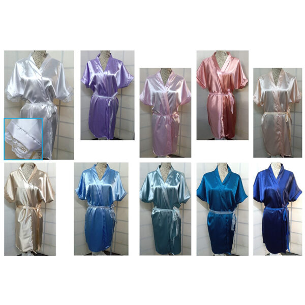 Satin Wedding Bathrobes