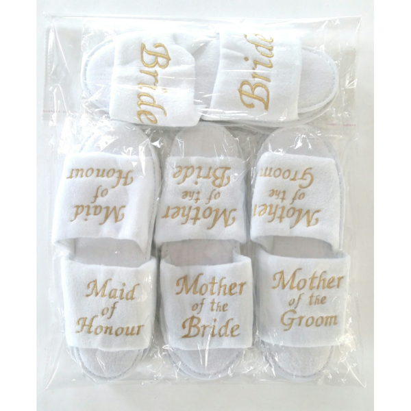 Embroidered Wedding Slippers